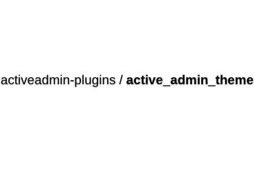 Activeadmin-plugins/active_admin_theme