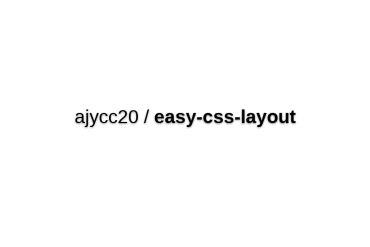 Ajycc20/easy-css-layout