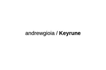 Andrewgioia/Keyrune