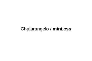 Chalarangelo/mini.css