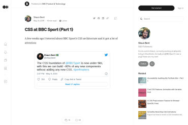 CSS At BBC Sport