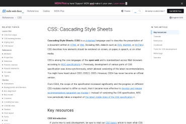 CSS - MDN - Mozilla