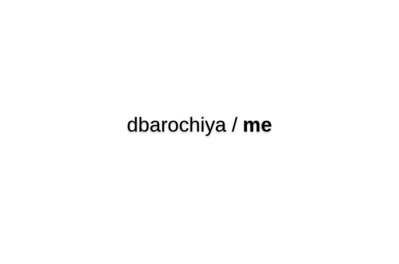 Dbarochiya/me
