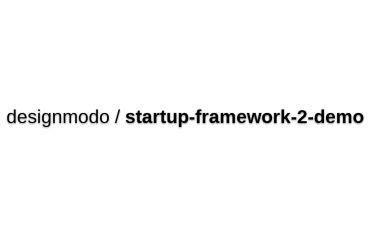 Designmodo/startup-framework-2-demo