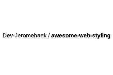 Dev-Jeromebaek/awesome-web-styling