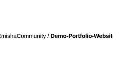 EmishaCommunity/Demo-Portfolio-Website