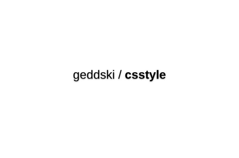 Geddski/csstyle