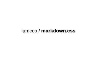 Iamcco/markdown.css