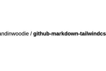 Iandinwoodie/github-markdown-tailwindcss