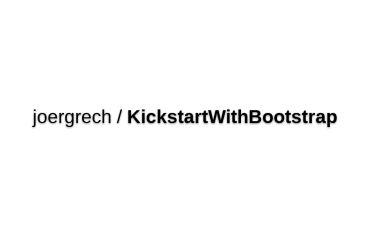 Joergrech/KickstartWithBootstrap