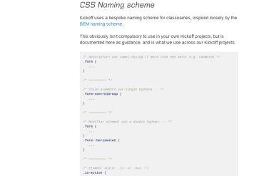 Kickoff CSS