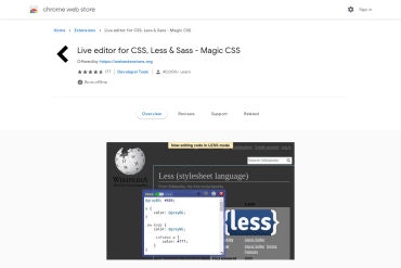 Live Editor For CSS And LESS