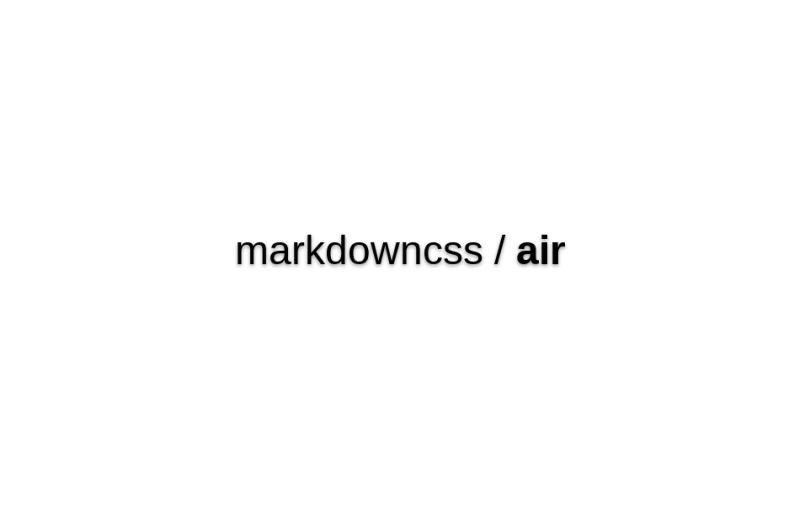 Markdowncss/air