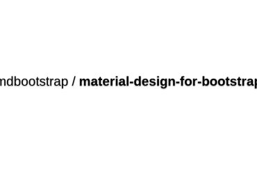Mdbootstrap/material-design-for-bootstrap