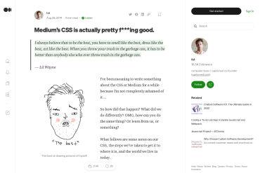 Medium's CSS Is Actually Pretty Good.