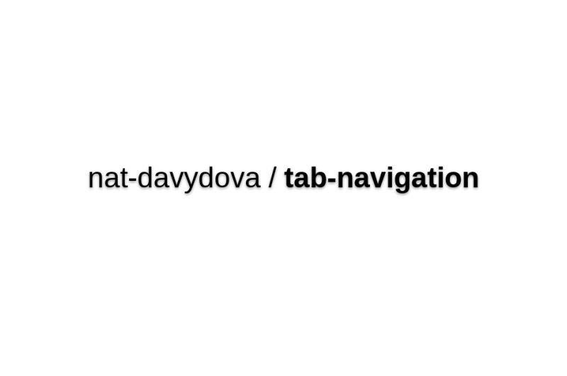 Nat-davydova/tab-navigation
