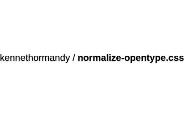 Normalize-OpenType