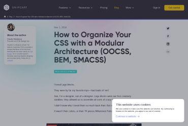 Organize CSS With A Modular Architecture: OOCSS, BEM, SMACSS