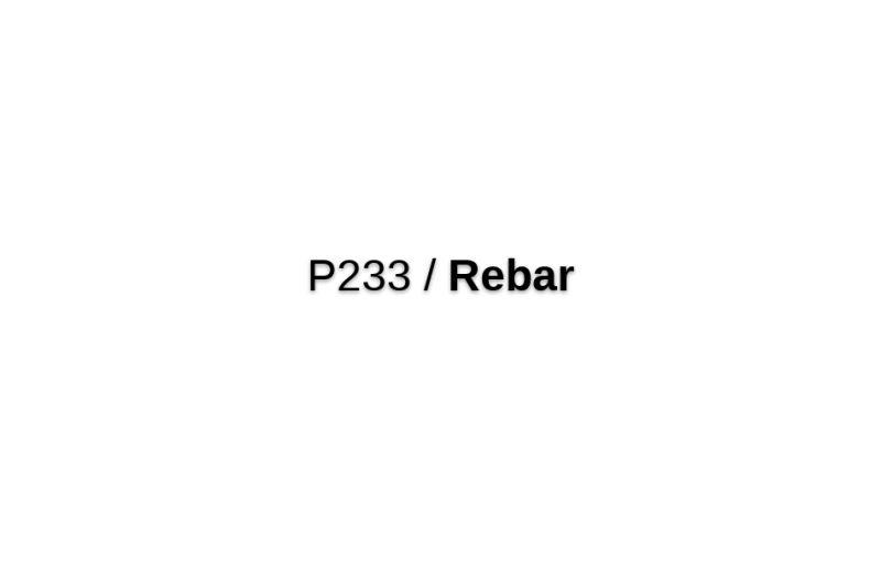 P233/Rebar