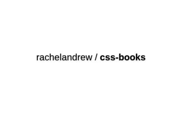 Rachelandrew/css-books