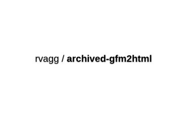 Rvagg/archived-gfm2html