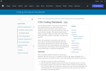 WordPress CSS Coding Standards