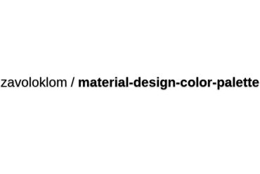 Zavoloklom/material-design-color-palette