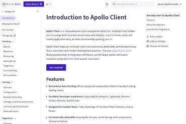 Apollo Client Documentation