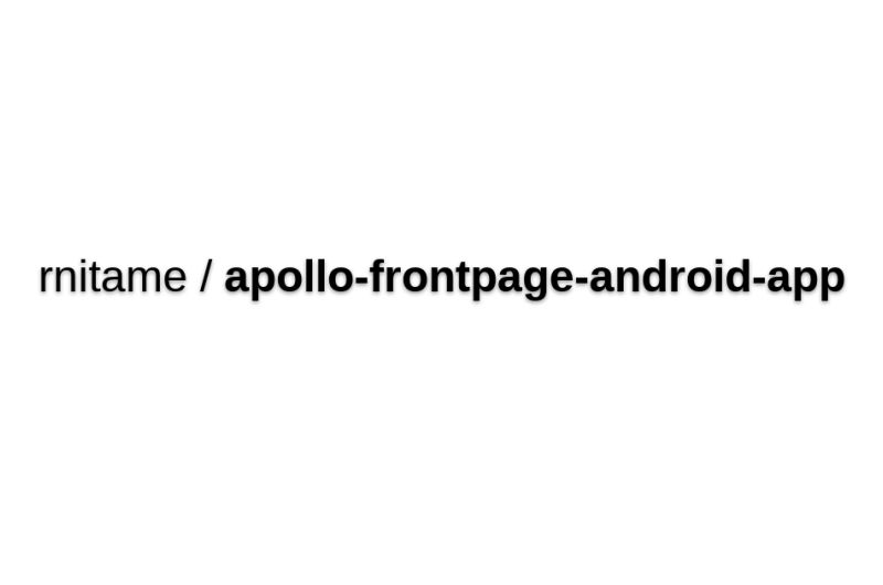Apollo-frontpage-android-app