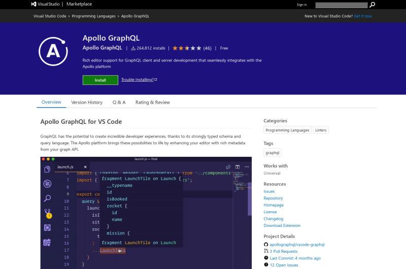 Apollo GraphQL VSCode Extension