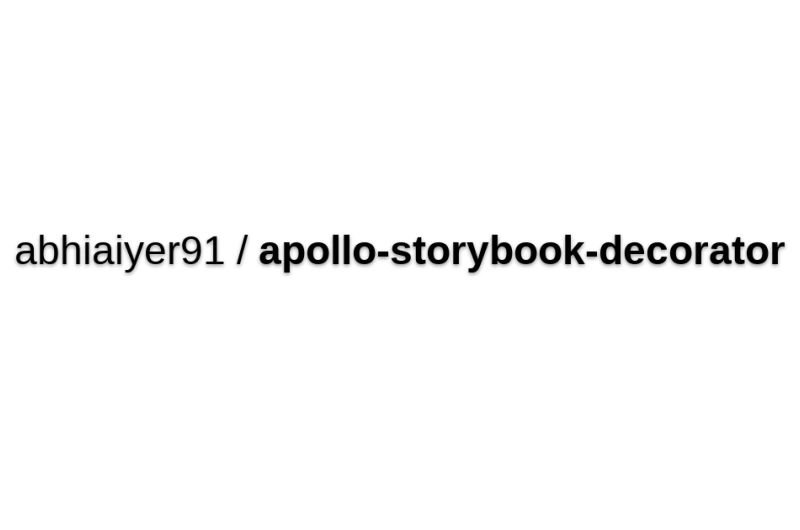 Apollo Storybook Decorator
