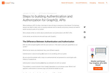 Authentication And Authorization For GraphQL APIs