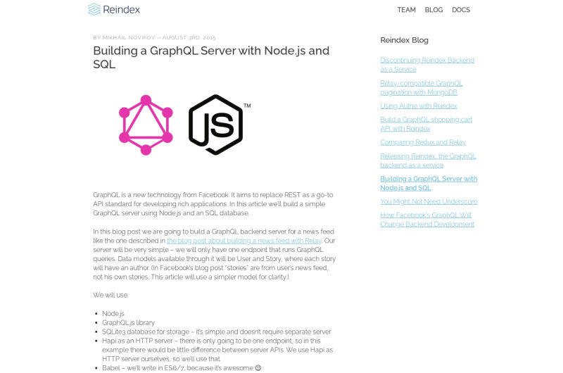 Building A GraphQL Server With Node.js And SQL