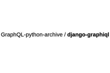 Django-graphiql