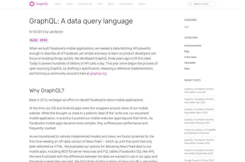 GraphQL: A Data Query Language
