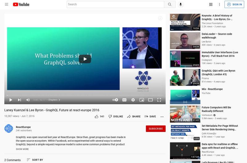 GraphQL Future At React-europe 2016