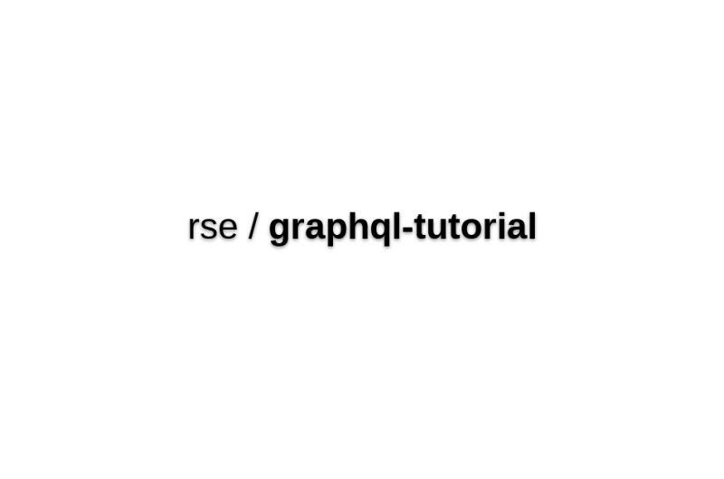 GraphQL Tutorial