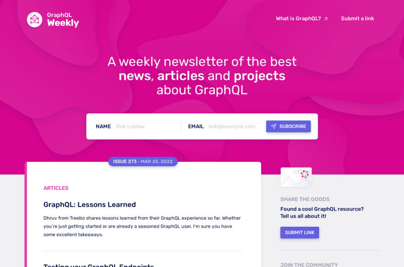 GraphQL Weekly