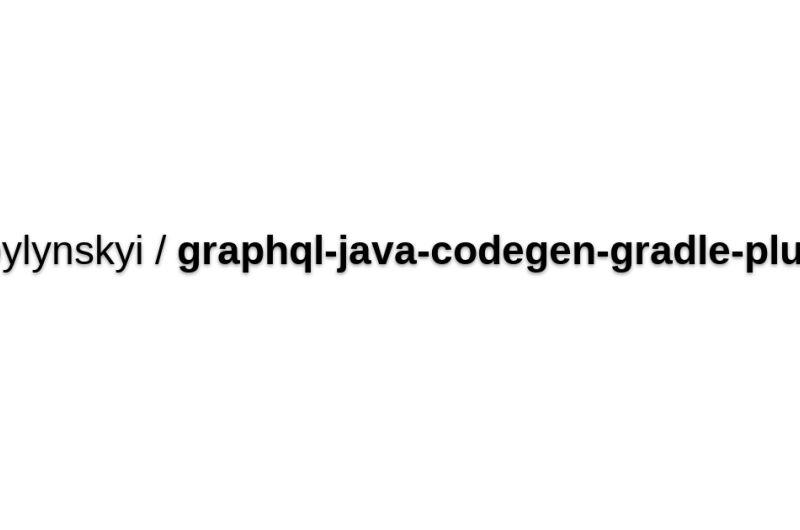 Graphql-java-codegen-gradle-plugin