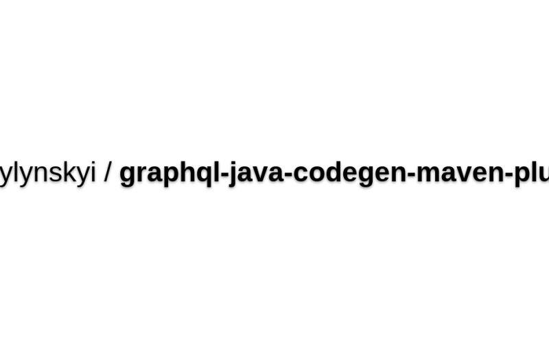 Graphql-java-codegen-maven-plugin