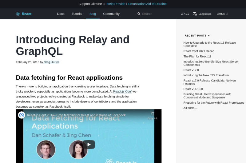 Introducing Relay And GraphQL