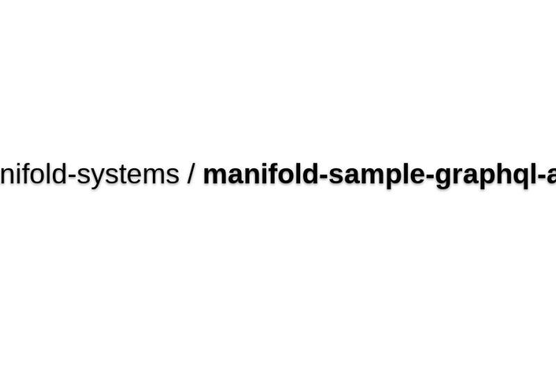 Manifold-graphql Sample