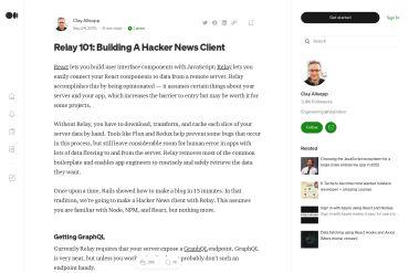 Relay 101: Building A Hacker News Client