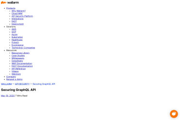 Securing GraphQL API