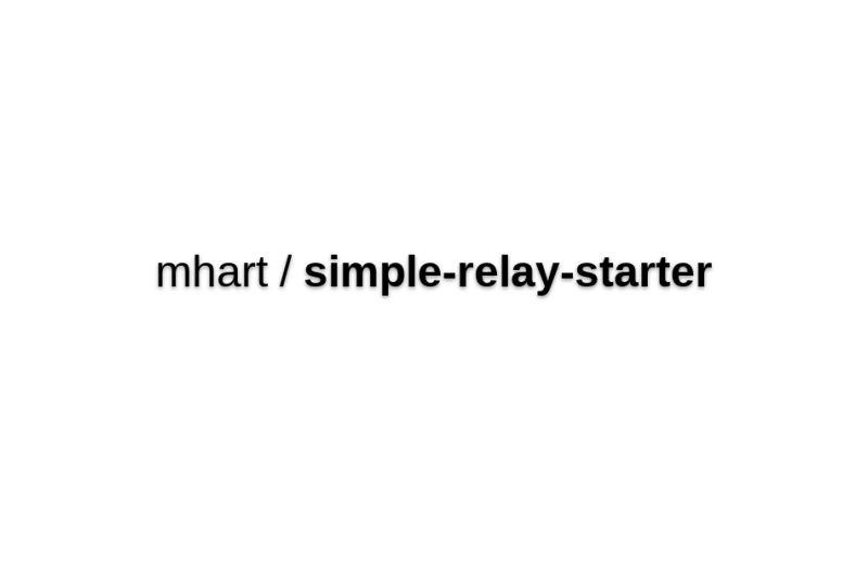 Simple-relay-starter