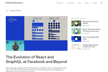 The Evolution Of React And GraphQL At Facebook And Beyond