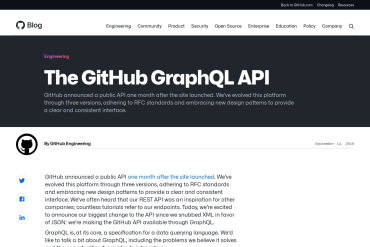 The GitHub GraphQL API
