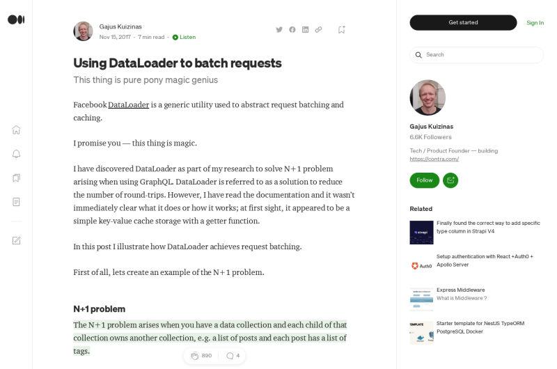 Using DataLoader To Batch GraphQL Requests