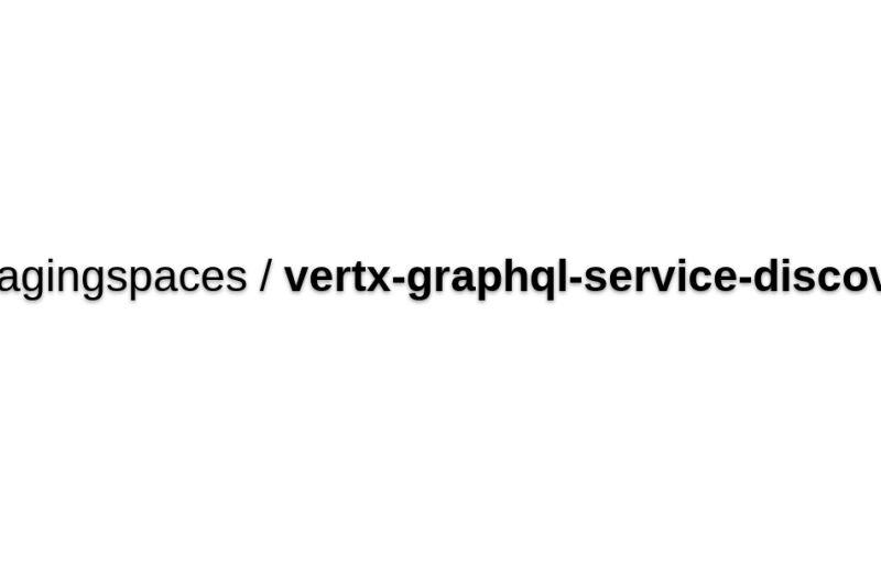 Vertx-graphql-service-discovery