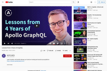 (Video) Lessons From 4 Years Of GraphQL